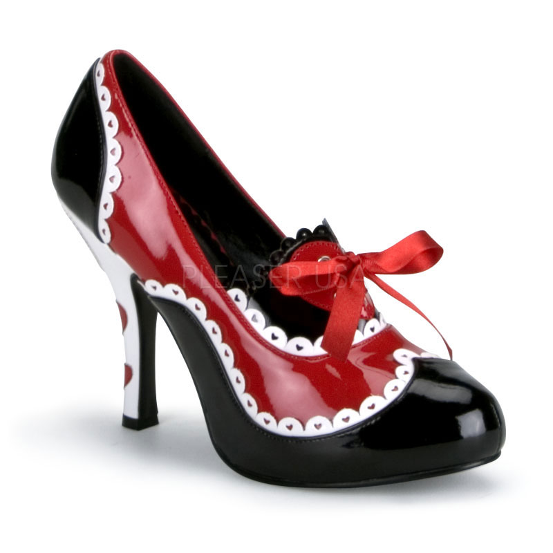 Costume-Ladies Queen Of Hearts Shoes - TheVikingStore.co.uk