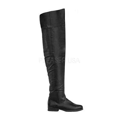 Costume-Mens Maverick Medieval Long Leather Boots - TheVikingStore ...