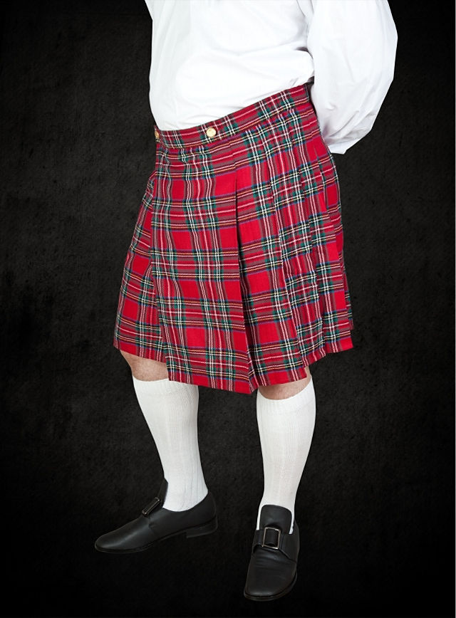 Costume - Red Tartan Kilt - TheVikingStore.co.uk