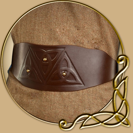 Costume Brown Belt With Celtic Knot Thevikingstore Co Uk