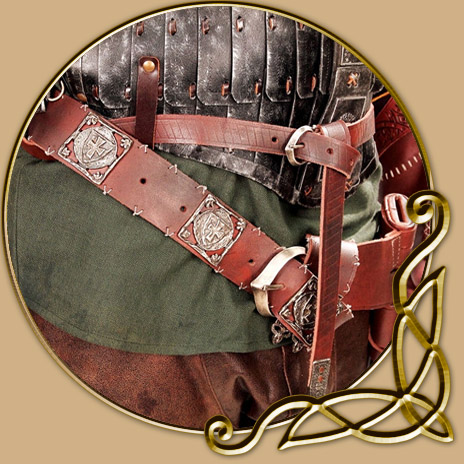 Costume Robin Hood Belt Sword Sheath And Pouch