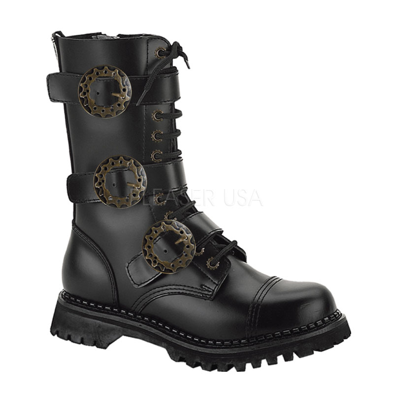 Costume Unisex Buckled Steampunk Boots Thevikingstore Co Uk