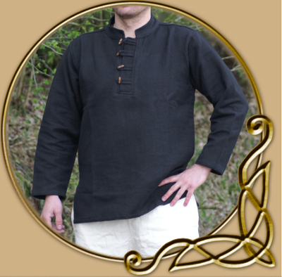 fe61d76b56 LARP Heavy cotton shirt with wooden buttons