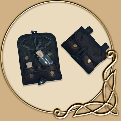 45d5fe2d0f LARP Leather Potion Holder - with two Bottles - TheVikingStore.co.uk